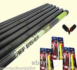 11 Metre Mitchell Take Apart Fishing Pole ELASTIC PRE FITTED + Roller & Rigs