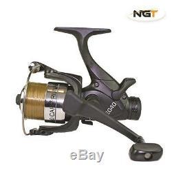 2 Rod Carp Fishing Set Up Kit With Reels Landing Net Pod Bait Mat Tackle NGT