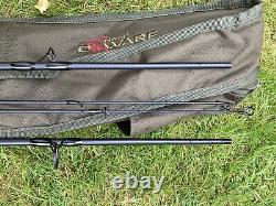 2 X Korum Opportunist 8ft Carp Stalker Rods With Nash Dwarf Rod Bag