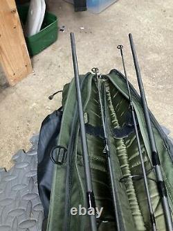 2 X Nash Cork Scope Rods 9ft 3.5lbtc With Rod Bag + Fox Landing Net