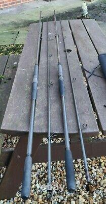 2 X Northwestern Kevlite Carp Rod 2 1/4lb T/c 12ft Long In Black Cloth Bags