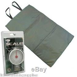 3 Rod Carp Fishing set up Reels Bag Bait Mat + Handle Scales Net Alarms Table