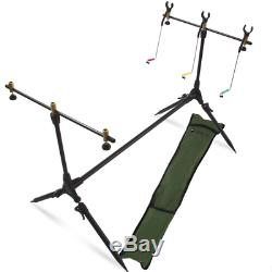 3 Rod Carp Set Up. 2 Man Double Skin Carp Fishing Bivvy Set. Rods Reels Bait NGT
