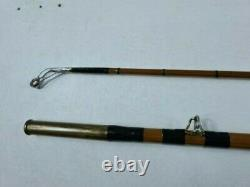 Army and Navy 10ft standard carp split cane 2 piece rod in fine condition