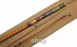 B James & Son, London, England Richard Walker Mk1V split cane carp rod, 102