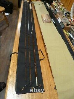 Black River Bamboo Fly Rod Payne 100 Taper 7'6 3wt Down locking maple burl seat