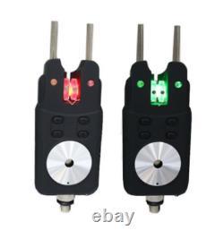 Carp Fishing Bite Alarm 4 Rod Set Colorful LED light wireless Bite Alarms