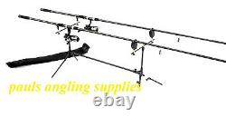 Carp Fishing Set 2 Rods 2 Reels 2 Alarms Rod Pod + More