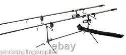 Carp Fishing Starter Set / Kit 2 Rods 2 Reels 2 Alarms Rod Pod Line + Indicators