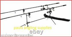 Carp Fishing Starter Set Up / Kit 2 Rods 2 Reels 2 Alarms Rod Pod Batteries