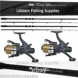 Carp Fishing set up Lineaeffe 2 Rods Reels Bite Alarms Holdall Pod Bag Boilies