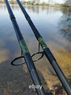 Carp rods x 2 13ft and fox warrior Spod rod