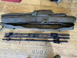 Century Cq 9ft 3.5lb Carp Rods With Thinking Anglers Rod Bag
