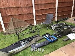 Complete Carp Fishing Tackle Set Up. Sonik Xtractor Rods And Reels