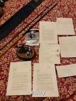 Dick Walker Rod and Reel and letters Rare collectors lot