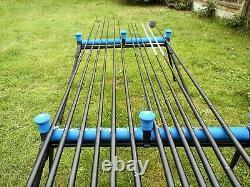 Drennan Acolyte 16m Carp pole with matching margin pole. 11 top kits