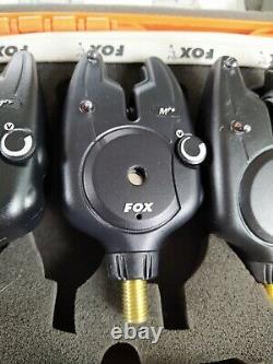 FOX MICRON MR+3 Rod Presentation Set & Receiver All Red Bite Alarms Carp Fishing