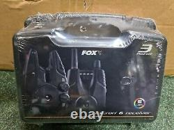 Fox Micron MX 3 Rod Set Carp Fishing Bite Alarms & Reciever Brand New L@@k