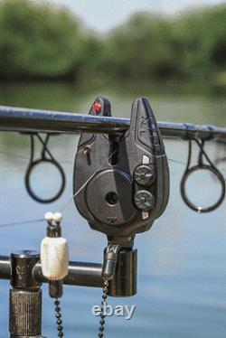 Fox NEW Micron MX Carp Fishing Bite Alarm 3 Rod Set Multi Coloured LED CEI192