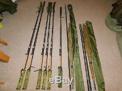 Free Spirit'E' Class Gold rod set, 6 rods & 2 46 E class landingnets