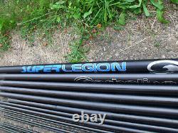 Garbolino Super Legion Pole 14.5mtr 5 top kits inc Cupping Kit