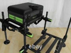 MAVER MXi COMPACT SEATBOX & FOOT PLATFORM match carp pole rod reel fishing setup
