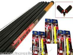 Mitchell 11 m Take Apart Pole Fishing Pole ELASTIC FITTED + Roller & Rigs