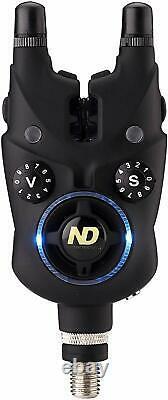 ND Tackle Fishing Bite Alarm Set illuminated Snag Ear+Bivvy Light+Smart Band