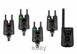 ND Tackle Wireless Bite Alarm S9 4rod Set Rechargeable Carp Fishing Indicator