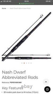 Nash Dwarf 9ft Rod Setup (4 Rods, 1 Reel & Luggage)