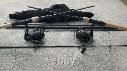Nash Scope sawn off rods + Reels + Black ops landing net + Rod Bag