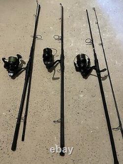 Nash scope 9ft rods 3 Lb X 2 Nash Dwarf Spod Rod 4.5 Lb. Shamino 5500 Xtd X3