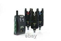 New Sonik SKS Bite Alarms & Receiver 3 rod set + Free bivvy Lamp incl Carry Case