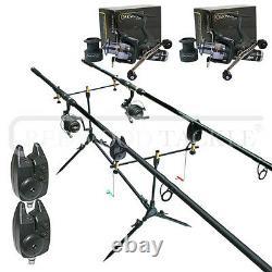 Oakwood Carp Set Rod Pod, 2 Rods, 2 Reels, 2 Bite Alarms