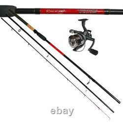 Oakwood Power Match/Carp Fishing Feeder Rod 12ft & Freespool 40 Reel With Line