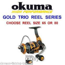 Okuma Trio Gold Reel Big Distance Surf Sea Spinning Marker Spod Carp Rod Fishing