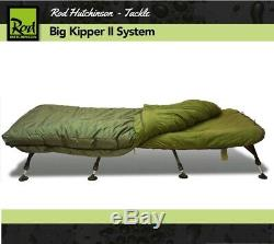 ROD HUTCHINSON BIG KIPPER II SYSTEM Bedchair & Sleeping Bag Carp Fishing bed