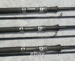 Rod Hutchinson 3 x Vintage 1993 Handbuilt Carp Rods, 12 foot 2.1/4lb TC Superb