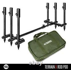 Saber Terrain X Pod 2 / 3 Rod Pod Lightweight Adjustable Carp Fishing