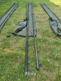 Shimano 13ft TX-2 Intensity Carp Rods x 3 + Aqua Rod Sleeves x 3