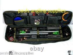 2 X Ensemble De Pêche Kit Rods + Reels Travel Tackle Bag Floats Shot Hooks Travel 6ft
