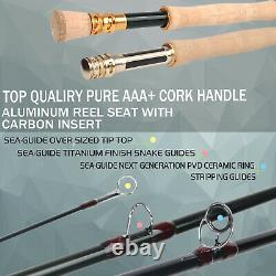 Action Rapide Skyhigh Fly Fishing Rod Im12 Toray Carbon 10ft 7wt 4pcs Tip Flex 9.5