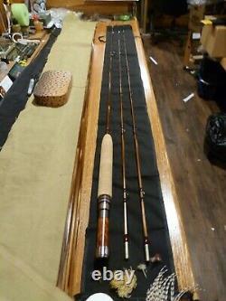 Black River Bamboo Bly Rod Payne 100 Taper 7'6 3wt Siège De Rotule D'érable À Verrouillage Vers Le Bas