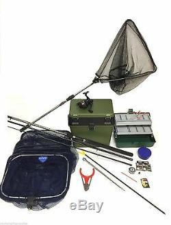Complete Starter Set Gros Flotteur De Pêche Kit. Dam 12ft Rod, Bobine, Boîte, Tackle