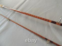Fosters 8ft D'ashbourne L'ideal Split Cane Spinning / Casting Rod De Pêche