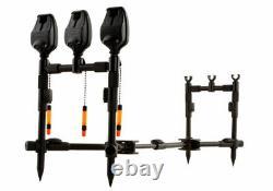 Fox Black Label Qr 3 Tige Compact Complete Pod Carp Fishing Rod Pod Nouveau Crp045