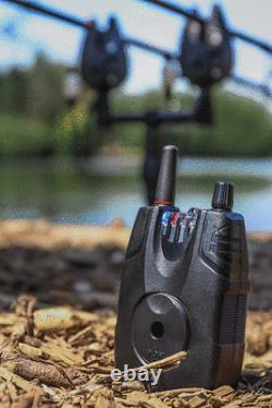 Fox Micron MX 2 Tiges Set Bite Alarme Et Receveur Cei191 New Carp Fishing