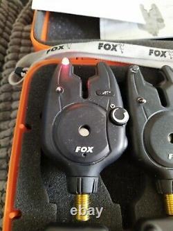 Fox Micron Mr+3 Rod Presentation Set & Receiver Tous Les Red Bite Alarmes Carp Fishing
