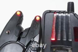 Fox Micron Rx+ 2 Rod Alarm Set New Fishing Alarms + Free Indicator Heads Cei156