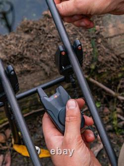 Fox Mini Micron X 2 Rod Alarm & Récepteur Ensemble Batteries Gratuites
